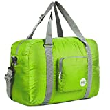 WANDF Foldable Travel Duffel Bag Super Lightweight for Luggage, Sports Gear or Gym Duffle, Water Resistant Nylon